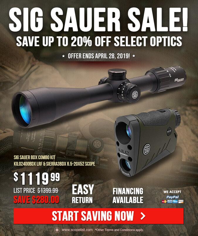 Sig Sauer Sale! - Save up to 20% select optics