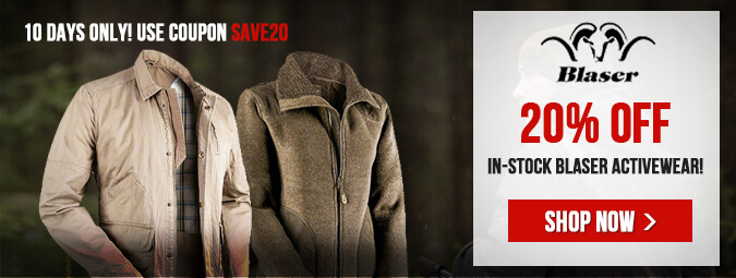 20% Off All In-Stock Blaser Activewear!