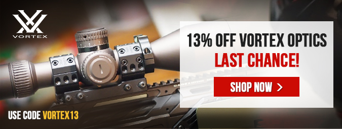 13% Off Eligible Vortex Products - Last Chance!
