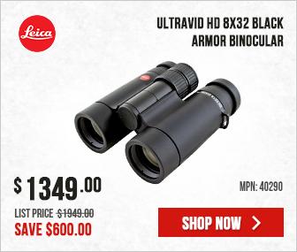 Leica Ultravid HD 8x32 Black Armor Binocular 40290