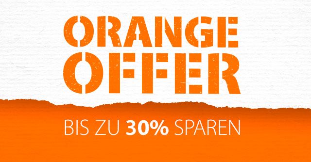 ORANGE OFFER - bis zu 30% sparen