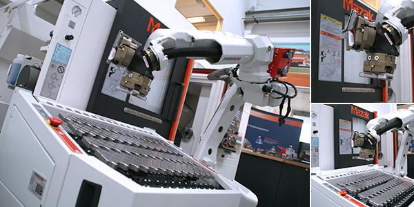 Mazak CNC Drehmaschine QSM200M mit RoboJob TA180