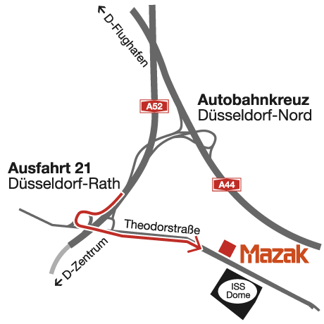 Anfahrt zum Mazak Technologiezentrum