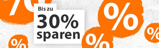 Bis zu 30% sparen