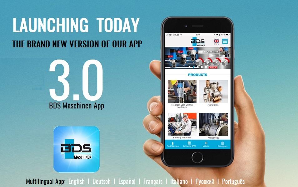 New BDS Maschinen App 3.0