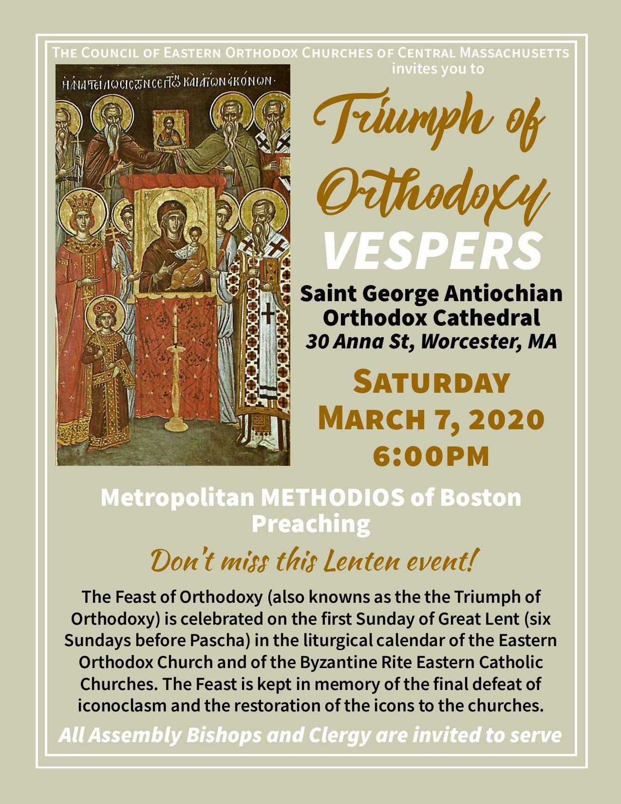 Triumph of Orthodoxy Vespers