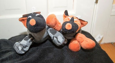 Wounded Warrior stuffed dog toys