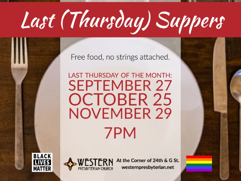 Last (Thursday) Suppers - October 25 at 7pm