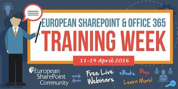 ESPC Training Week 2016