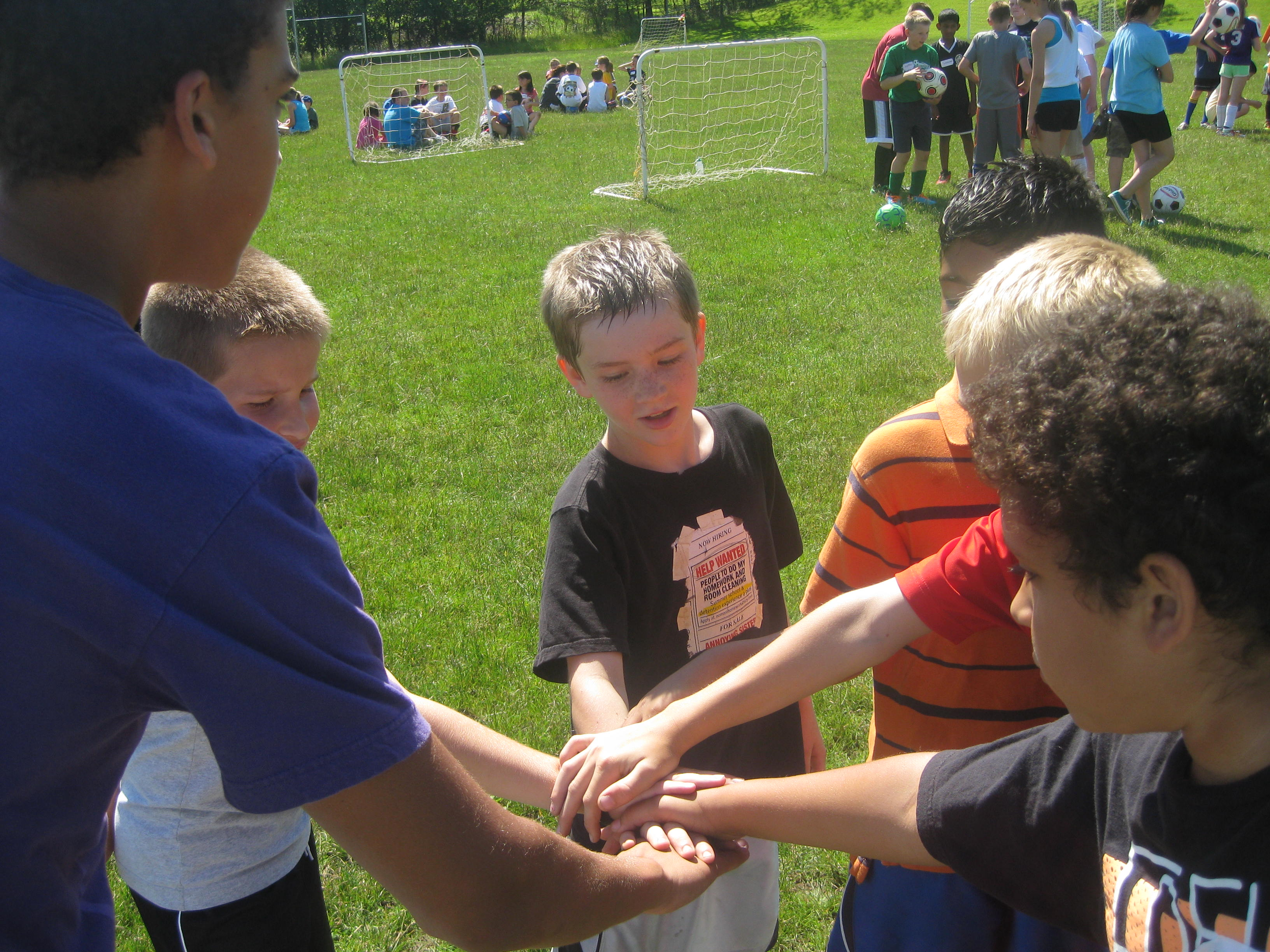 Soccer Camp Comraderie