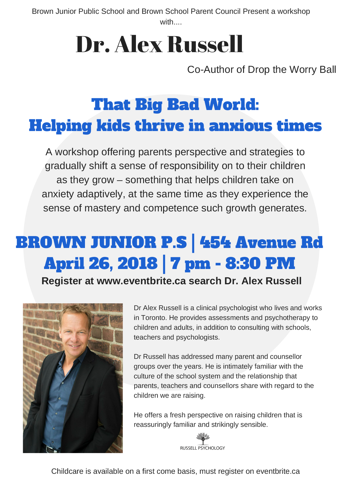 Dr. Alex Russell @ Brown Jr. Public School – April 26