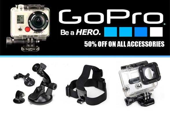 SavSave 50% off Go Pro accessories sale over 100 items at Simplywholesale.com.au