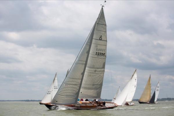 Classic Yachts racing in the Classic Regatta 2018