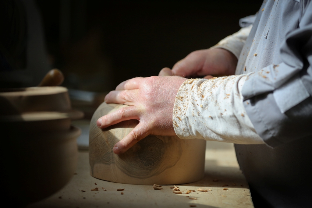 Orkney craftsman at work