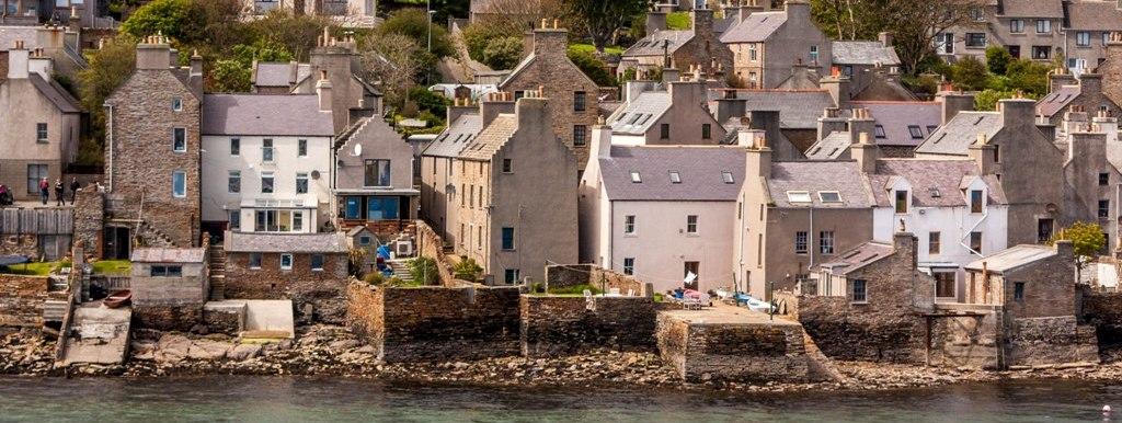 Houses on the shore in Stromness, Orkney