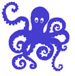 Curly Octopus Logo