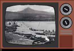 Brodick beach with fishing boats