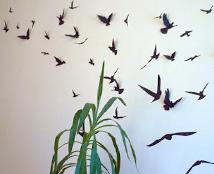 3D Birds Wall Art