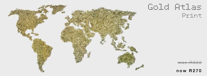 Gold Atlas Print