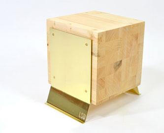 Butcher Block Side Table - Brass Legs