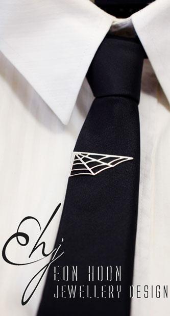 Spider Web Tie Clip