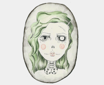 Zombie Girl A5 Mini Print