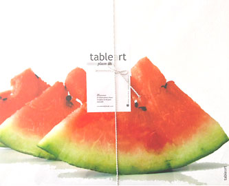 Watermelon Disposable Placemats - 25 Set