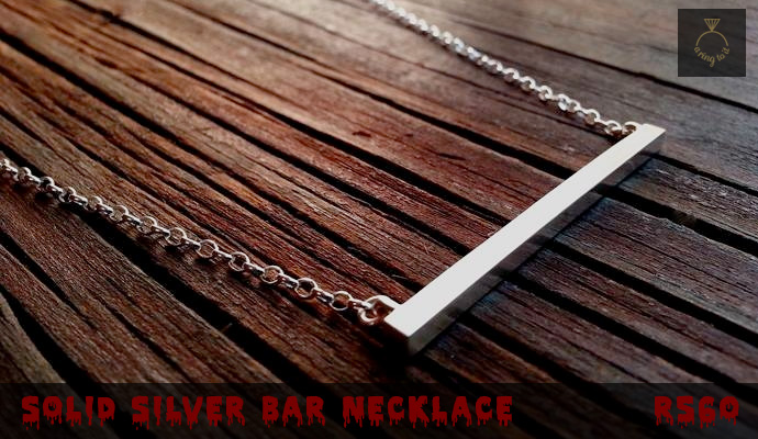 Silver Bar Necklace by A Ring To It Jewellery