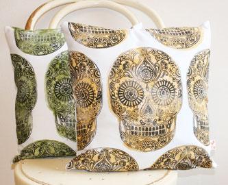 Sugar Skull Cushion Cover