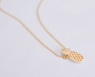 Gold-filled Pineapple Necklace