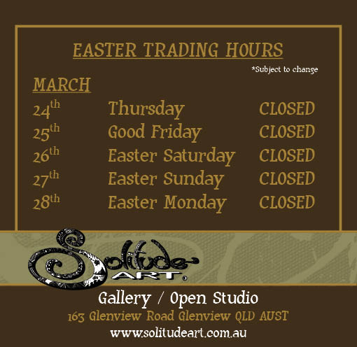 CLOSED - During Easter holidays and until 7th April 2016