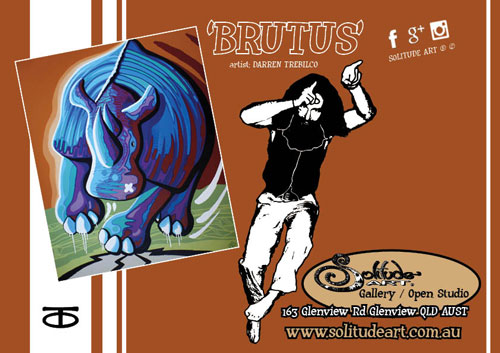 Featured Artwork by Sunshine Coast artist Darren Trebilco - 'BRUTUS'