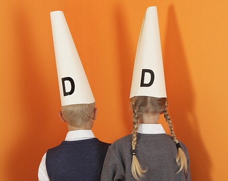Children with Dunce Caps