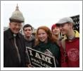 Fr. Buckley with students at the Walk for Life
