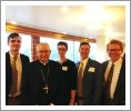 Jared P. Kuebler, the Most Rev. José H. Gomez, Katherine M. Gardner, Paul K. Shields, and Dean Brian T. Kelly