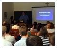 Alumni professionals advise students at Career Strategies Workshop.