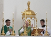 Bishop Vigano offers Mass in College Chapel