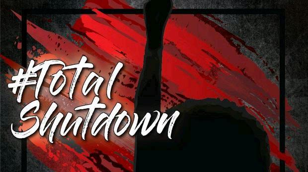 #totalshutdown