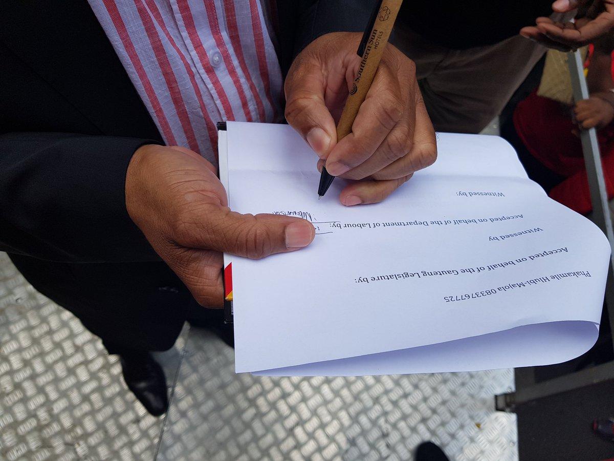 memorandum handover
