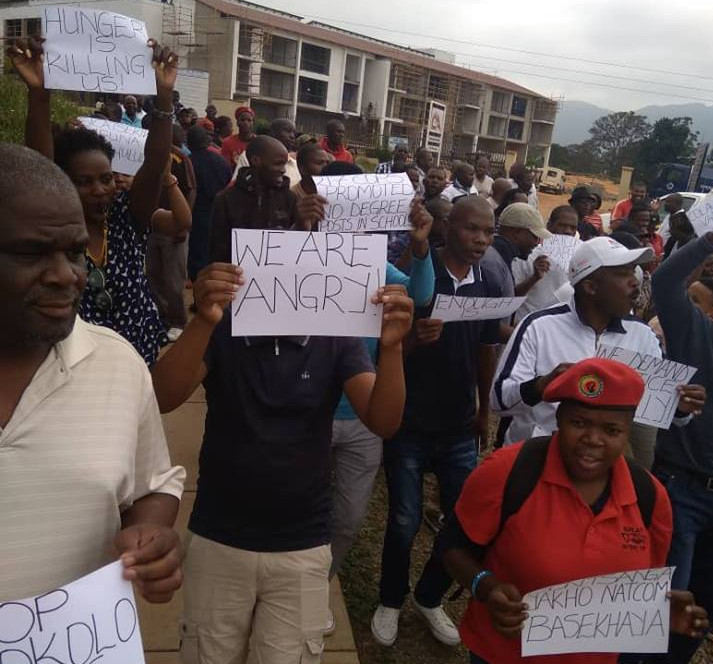 swaziland teachers protest