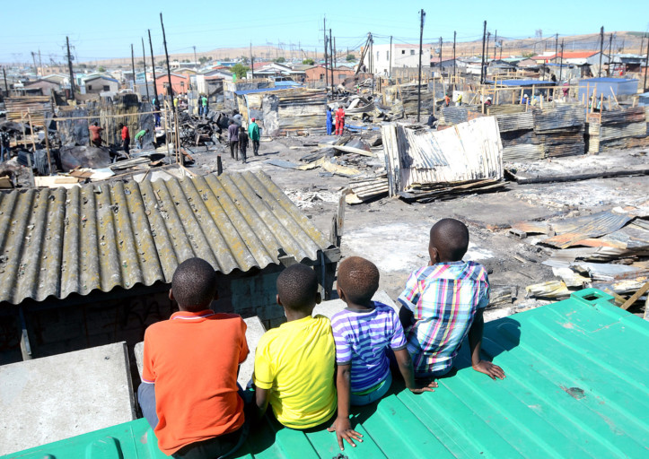 kids on shacks