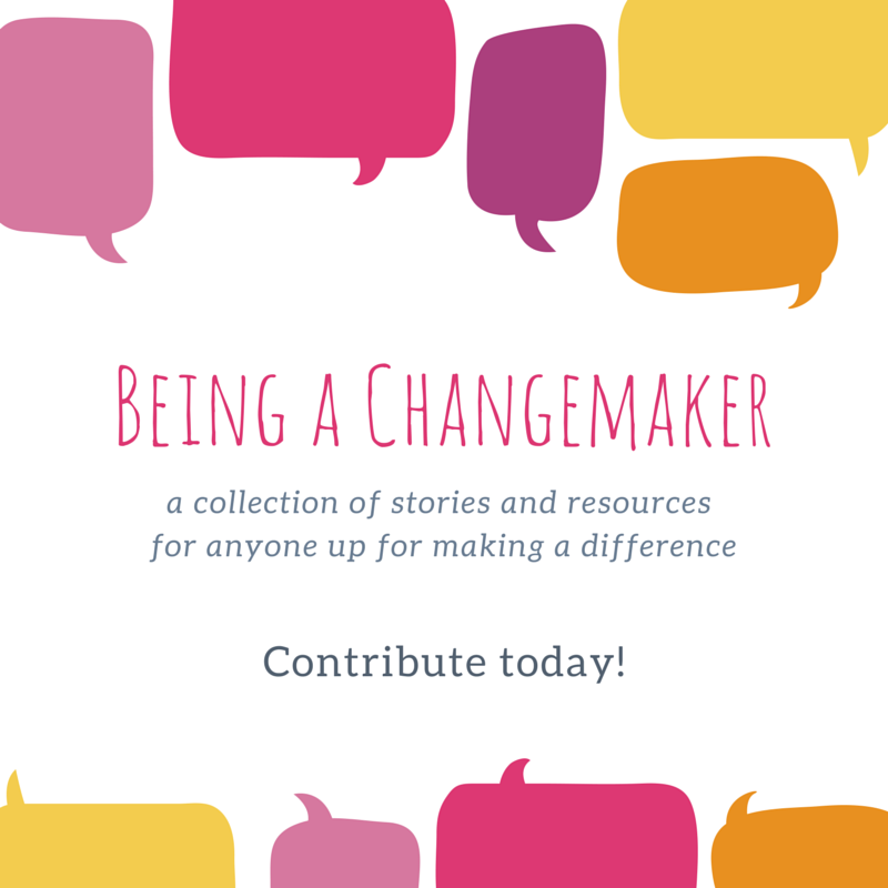 Karen is about to start writing a book about being a Changemaker