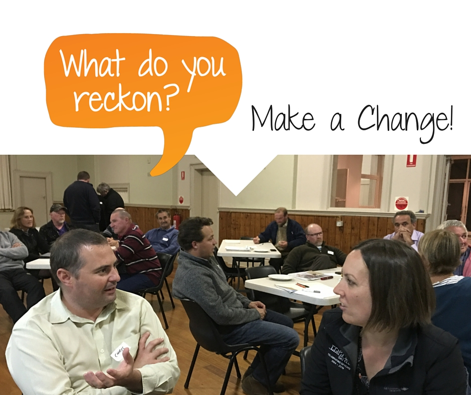 Good stuff that happens in community starts from everyday people thinking about making a change.