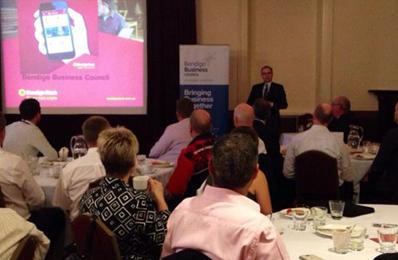David Robertson of Bendigo Adelaide Bank with Make a Change Australia