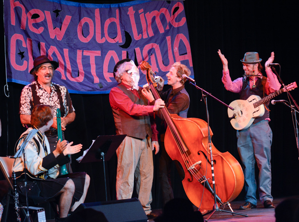 Skitnik performing with New Old Time Chautauqua