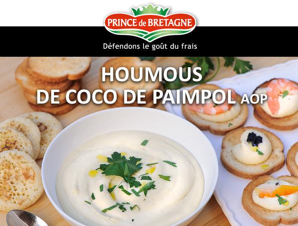 Houmous de coco de Paimpol AOP