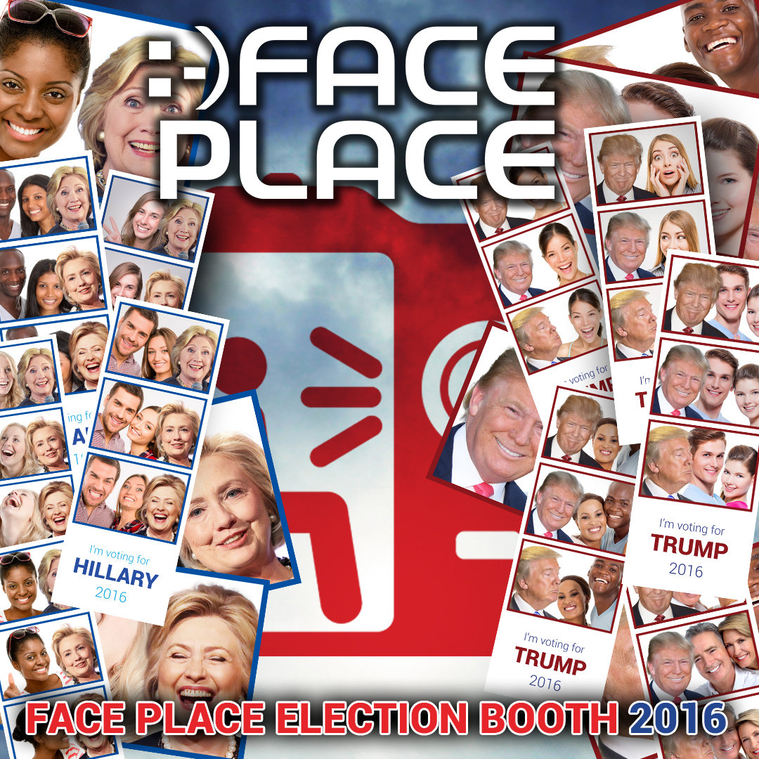 photo booth, Face Place photo booth, Face Place Election Booth 2016