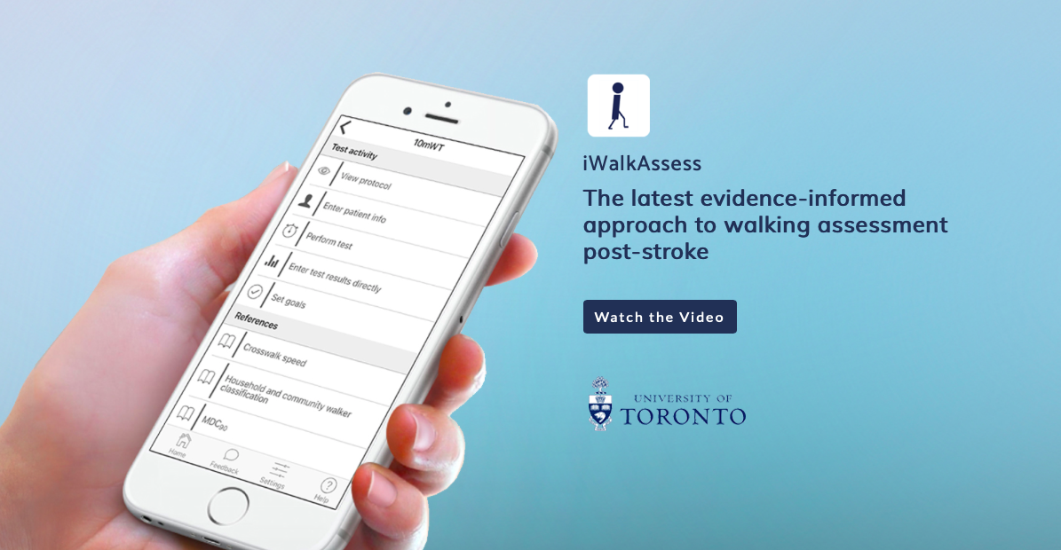 The CPSR-funded iWalk Toolkit was released in Sept. 2018 to help physiotherapists use an evidence-informed approach to administering the 10-metre walk test and the 6-minute walk test with people post-stroke.