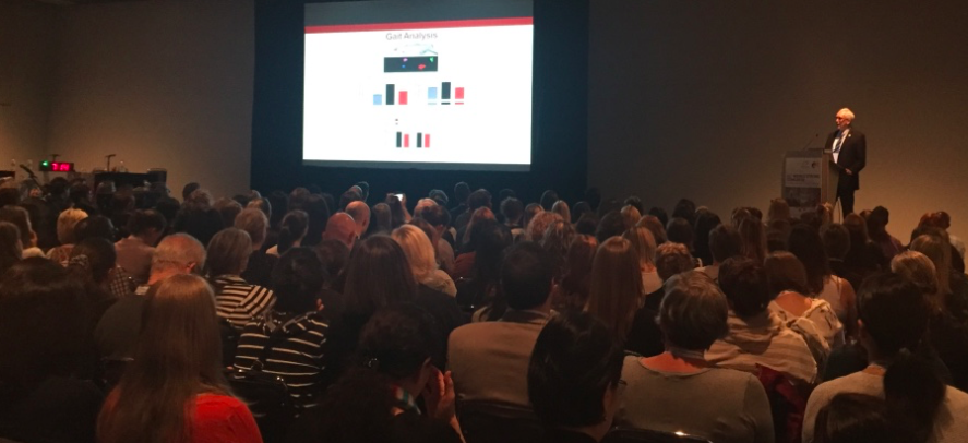 It was standing-room only for CPSR Scientific Director Dale Corbett's presentation on rehabilitation research at the 11th World Stroke Congress in Montreal in 2018.