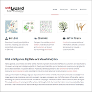 Screenshot of webLyzard Site
